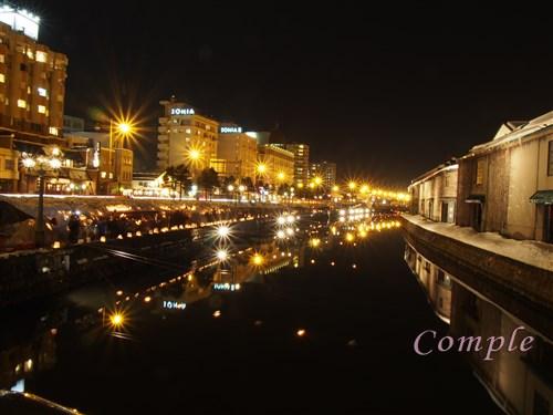 [レポ]北海道小樽運河の風景とろうそくの夜景写真カメラ教室