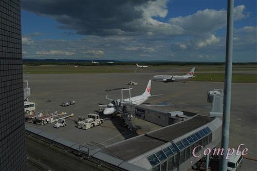 エアターミナルホテルからの新千歳空港