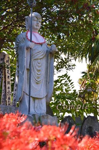 宝蔵院彼岸花と地蔵