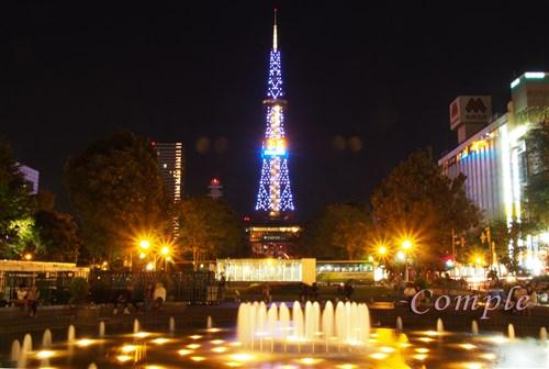 [レポ]北海道札幌 大通公園の夕景とさっぽろテレビ塔の夜景写真カメラ教室