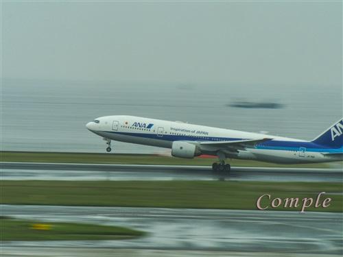 ANA飛行機離陸