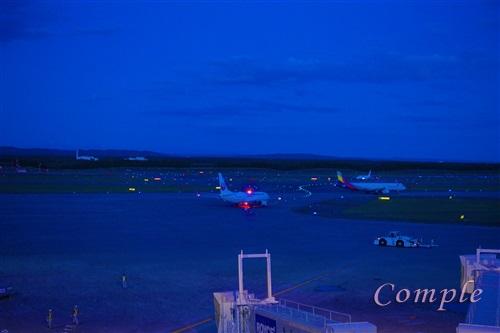 暮れかけの新千歳空港
