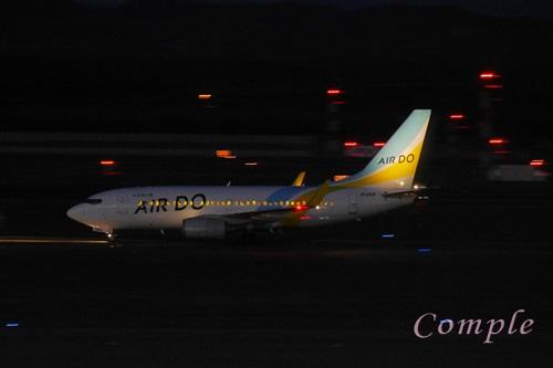 夜のAIRDO飛行機