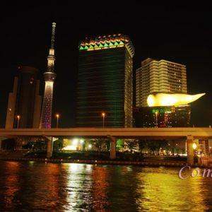 隅田川とスカイツリー夜景
