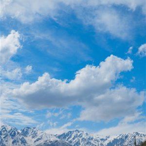 白馬の雪山