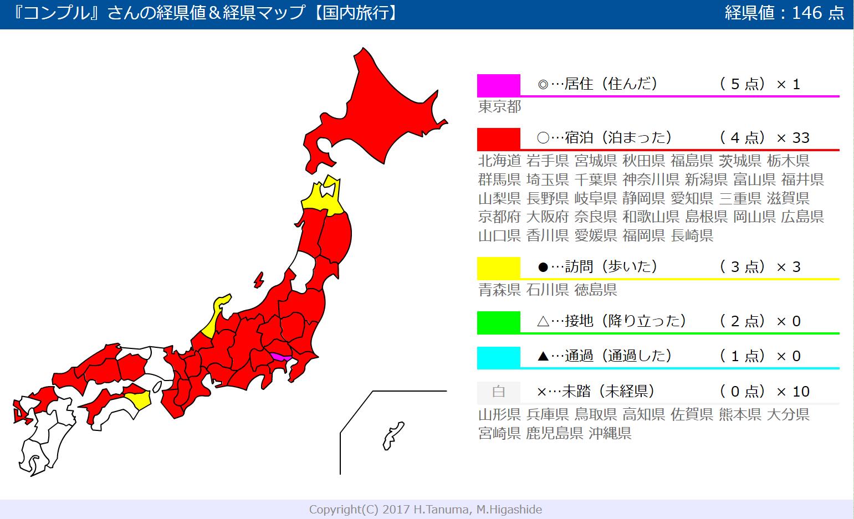 日本国内旅行した都道府県の色ぬりマップが自動で作れるサイト