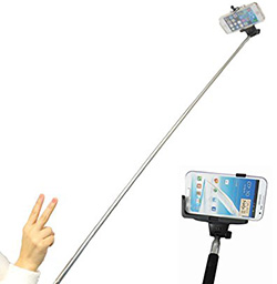 自撮り棒を使い自分撮りする人が増えているのはよいと思う