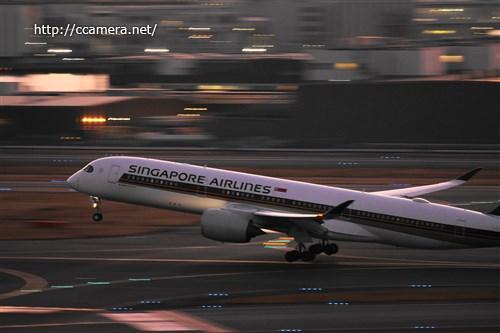 羽田空港飛行機流し撮り
