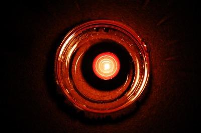 ロウソク火災防止仕様と露光間ズーム写真
