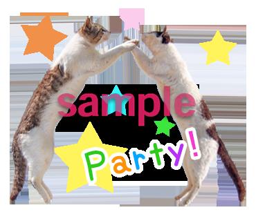 パーティ猫LINEスタンプ