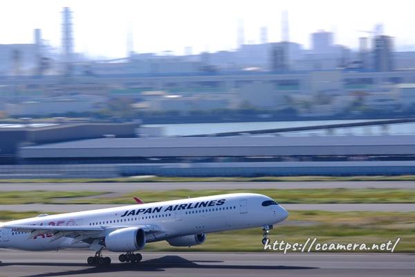 JAL飛行機流し撮り