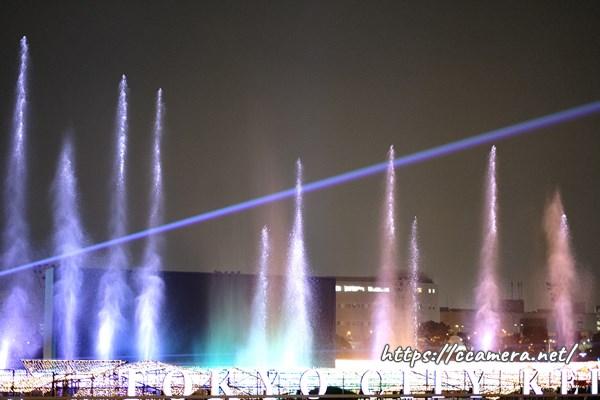 大井競馬場メガイルミ噴水