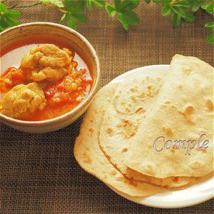 インドカレーとチャパティ