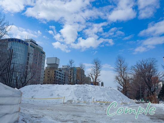 札幌雪まつり終了後