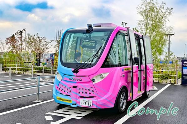 羽田イノベーションシティの自律走行バス